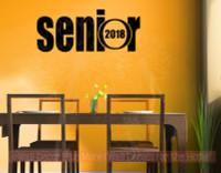 Senior Class of 2018  Wall Art Graduation Vinyl Decals Stickers-Black
