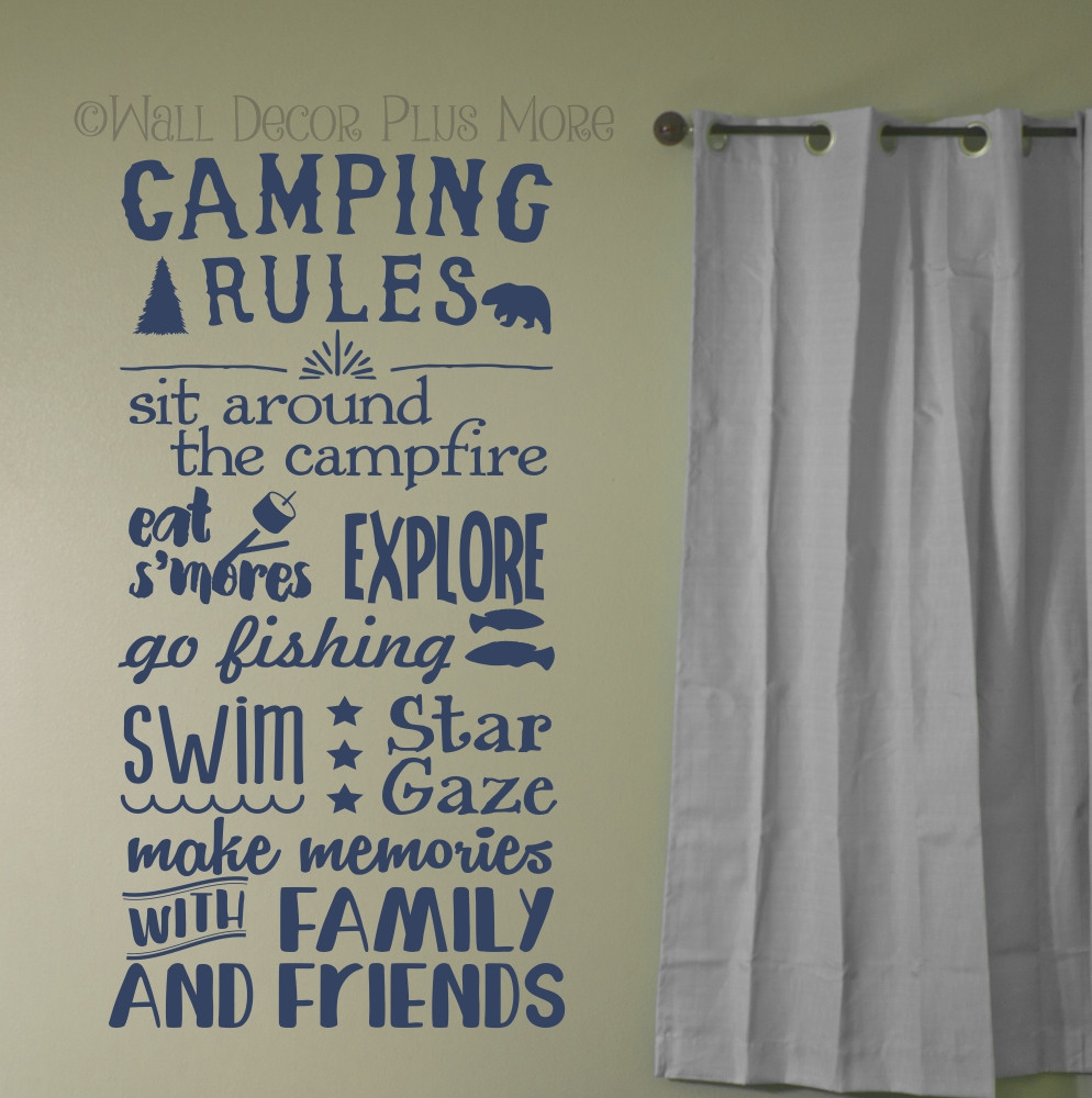 Best memories made camping quotes vinyl lettering art wall sticker camping rules subway summertime art quotes wall letters decals amipublicfo Gallery
