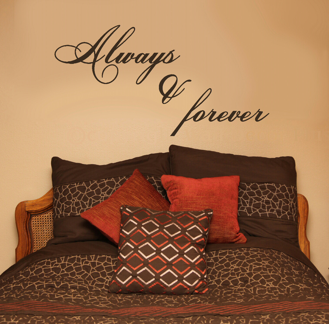 Love Wall Decor Bedroom Always And Forever Vinyl Wall Sticker Decals Popular Bedroom Wall