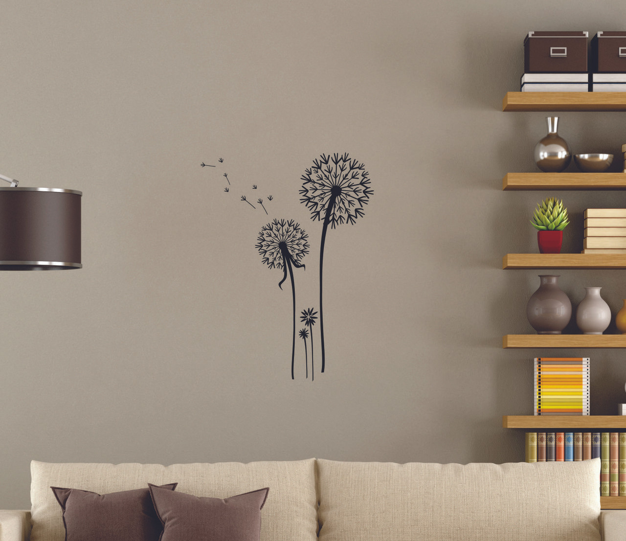 Balancing gymnast silhouette and stars with gymnastics rocks girls dandelion flower wall stickers decals popular wall art amipublicfo Images