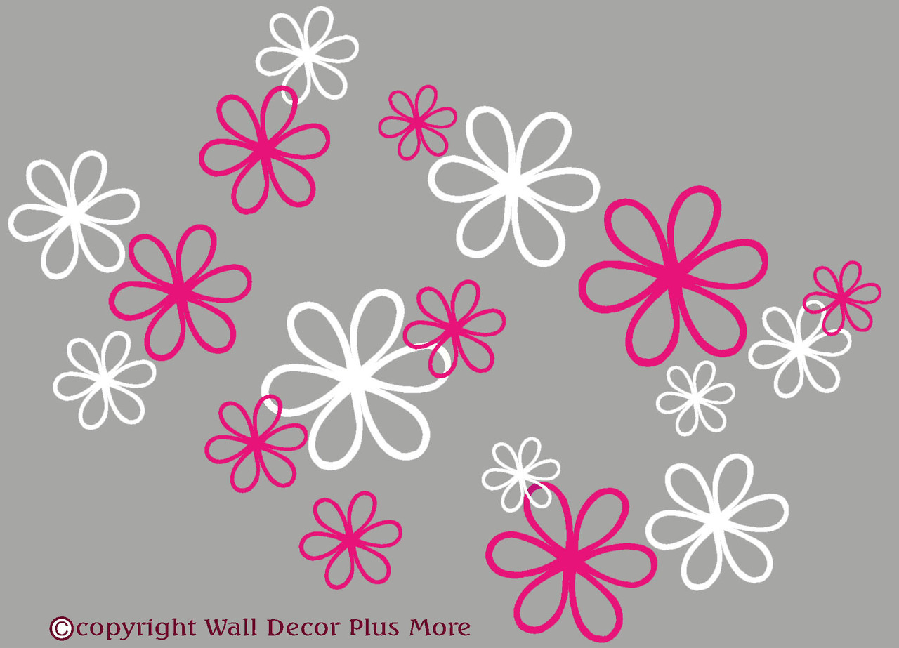 2 color daisy floral wall decal package 16pc daisy floral wall decal package loading zoom mightylinksfo
