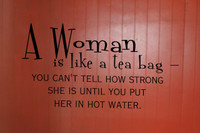 women like tea bag humor wall Decal quote