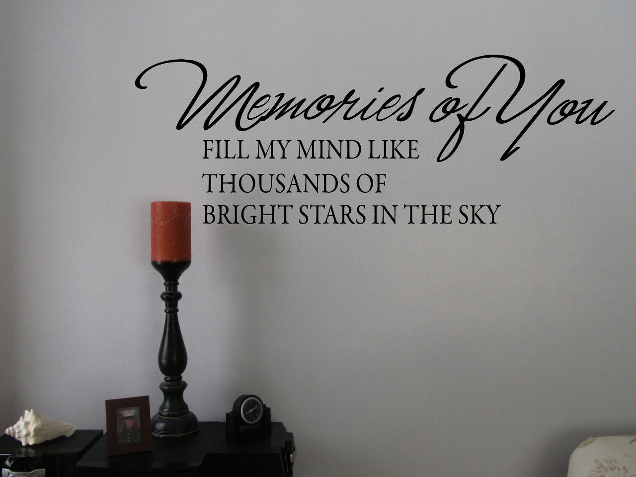 Memories Of You Memory Wall Decal Saying Sympathy Vinyl Stickers Words.  Loading Zoom Part 38