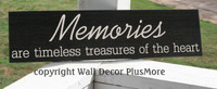 Memories are Timeless Treasures of the Heart Wall Sticker Decals Sympathy Quote