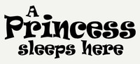 A Princess Sleeps Here Wall Sticker Decal Quote for Girls Room Decor