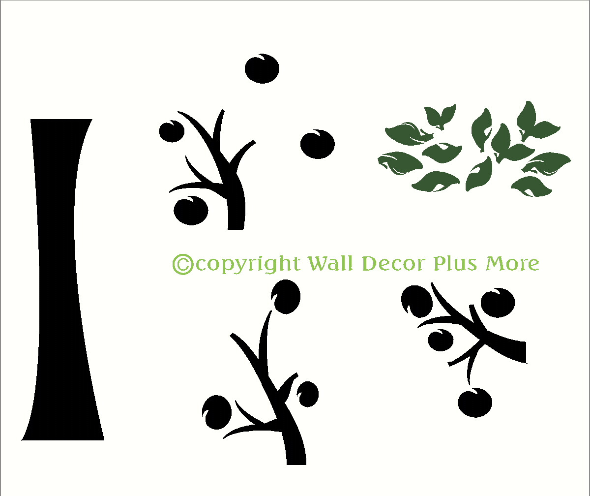 Tree Wall Decal Silhouette Vinyl Stickers for Family Photo with ... for Wall Sticker Tree Silhouette  157uhy