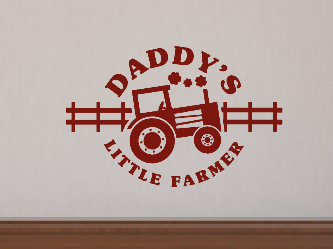 Daddys little farmer boys wall decals stickers farm wall dcor daddys little farmer boys wall decal stickers with tractor art graphics loading zoom amipublicfo Gallery
