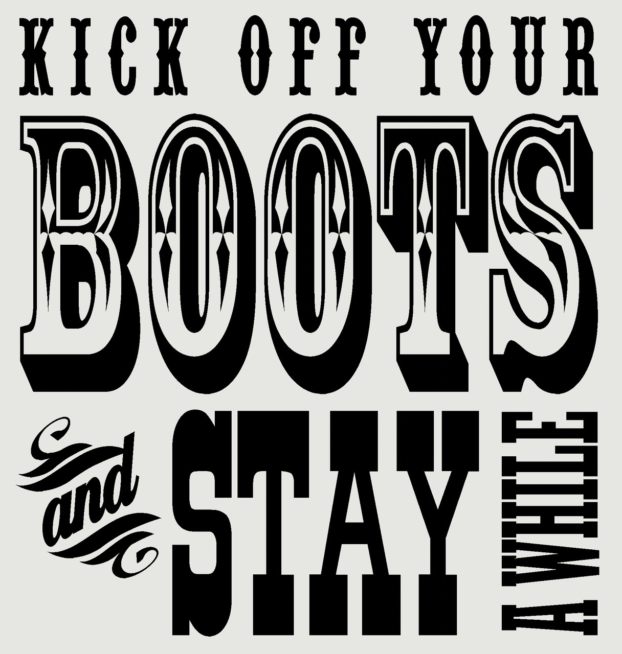 Kick off your boots and stay awhile western vinyl decals wall kick off your boots and stay awhile western vinyl decals wall stickers words loading zoom amipublicfo Images