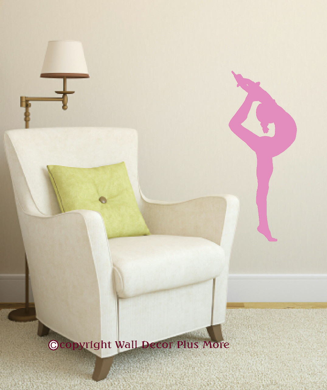 Balancing gymnast silhouette and stars with gymnastics rocks girls stretching gymnast silhouette girls wall decal vinyl stickers art amipublicfo Images