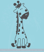 Baby Giraffe Vinyl Wall Art Sticker Decals for Nursery or Child's Room Decor