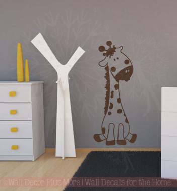 Baby Giraffe Vinyl Wall Art Sticker Decals For Nursery Or Child 39 S Room Decor 24x10