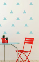 Triangle Wall Decal Stickers Shapes - Beach House 12pc - Peel n Stick