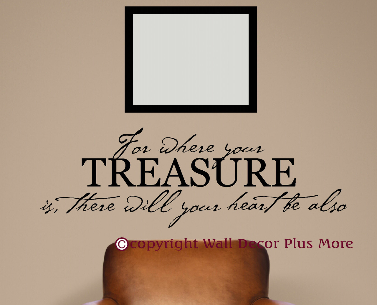 Where your treasure is heart will be also bible verse wall heart will be also bible verse wall sticker decals wall loading zoom amipublicfo Gallery