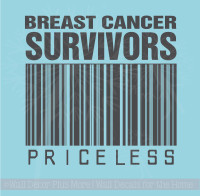 Breast Cancer Survivors Priceless Wall Decal for Cancer Awareness Black