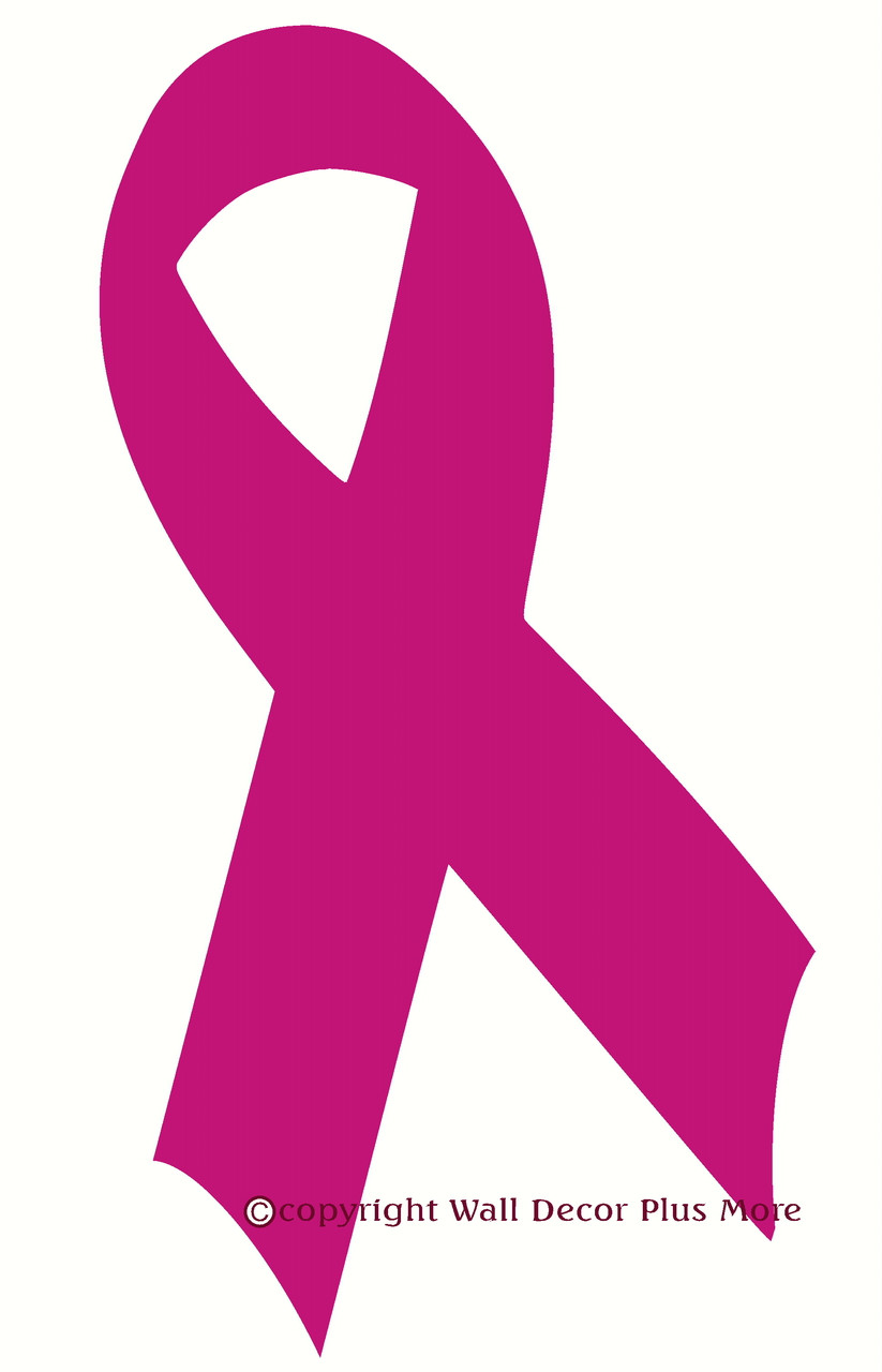 Breast cancer ribbon wall decal 23x125 breast cancer ribbon wall decal hot pink loading zoom biocorpaavc