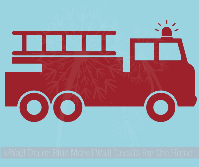 Fire Truck Wall Decal for Boys Room Wall Art Decoration