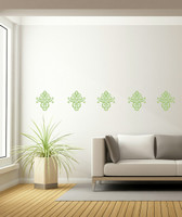 Floral Pattern Medallion Wall Decal for Home Decor