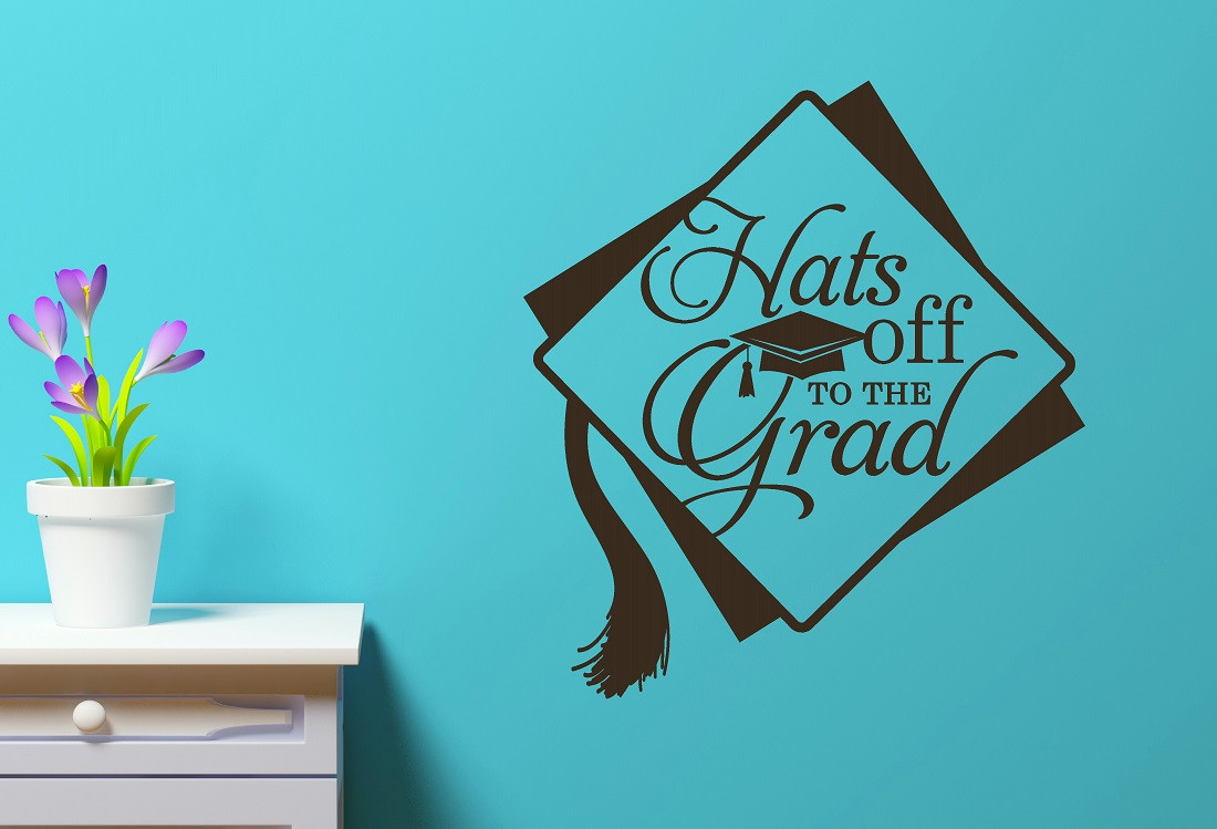 Wall Decals Celebration Decals Graduation Decals Wall Decor - Custom vinyl wall decals falling off
