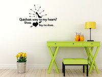 Buy Me Shoes - Funny Wall Decal Saying for Bedroom Home Decor
