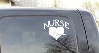 Nurse with Heart Decal Sticker Art