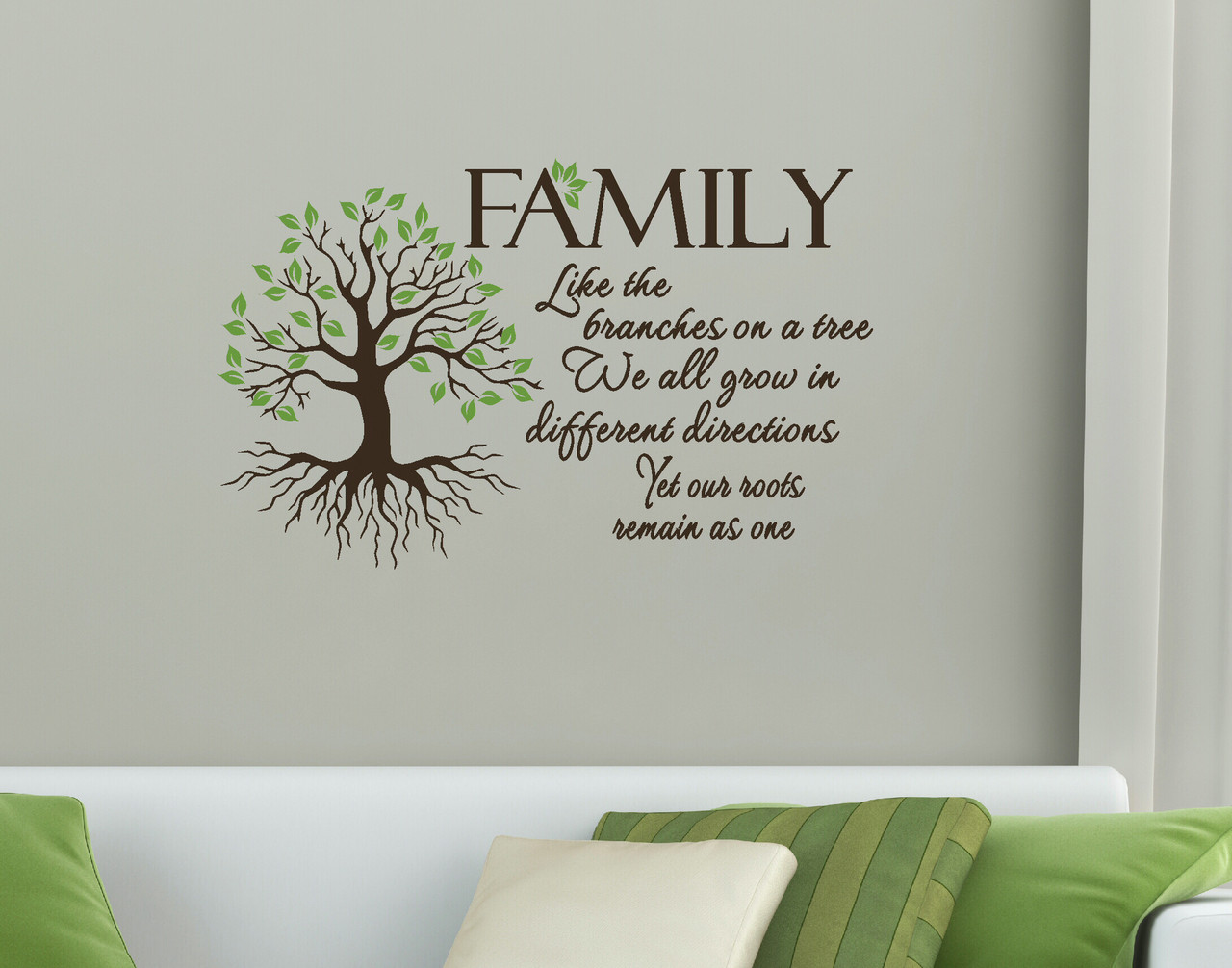 Family quote like branches on a tree wall art vinyl decal loading zoom amipublicfo Image collections