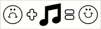 Sad plus Music equals Happy Face Wall Art Decal
