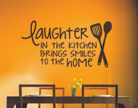 Laughter in the Kitchen Brings Smiles to the Home Wall Decals Kitchen Quotes