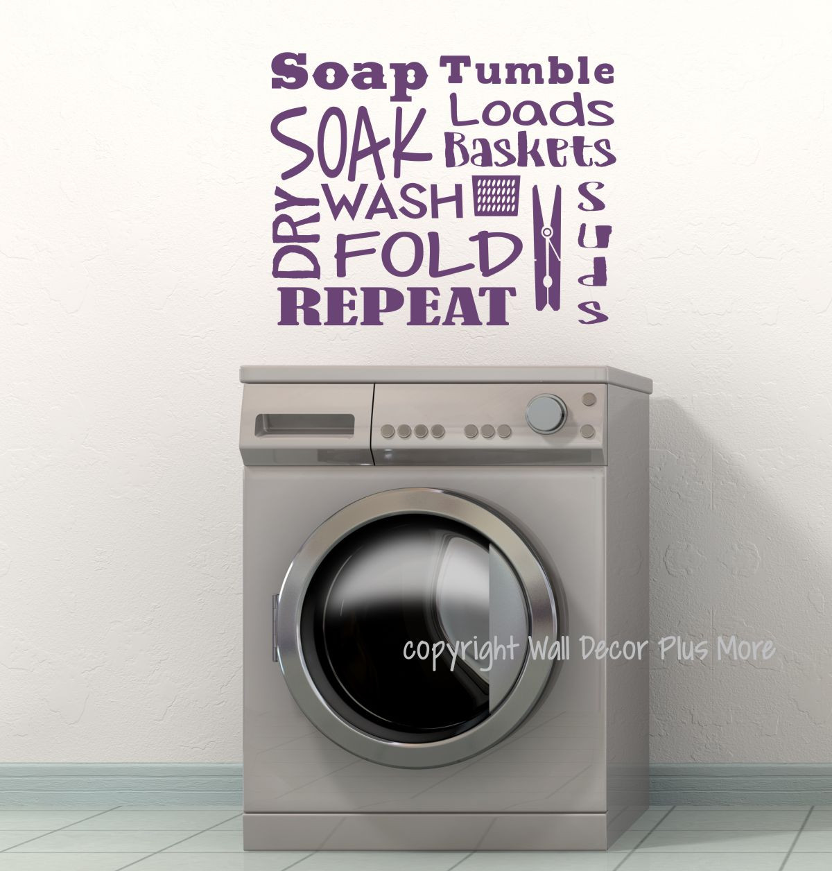 Laundry Room Wall Decal Letters Soak Wash Dry Fold Vinyl Stickers. Loading  Zoom Part 81