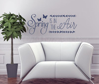 Spring is in the Air Wall Decals Vinyl Stickers Seasonal Decor