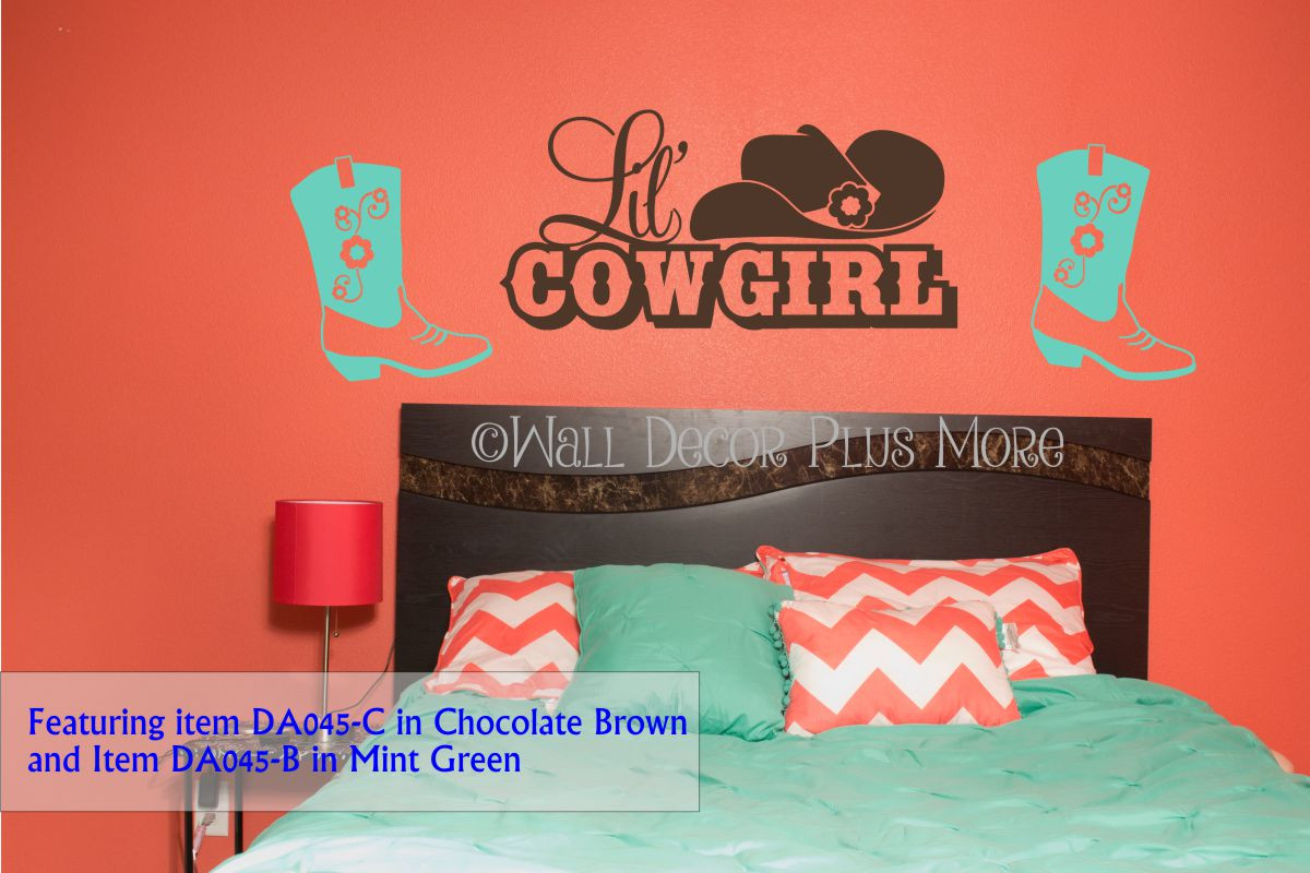 Cowgirl boot western wall decals vinyl stickers removable wall cowgirl boot western wall decals vinyl stickers removable wall graphics loading zoom amipublicfo Images