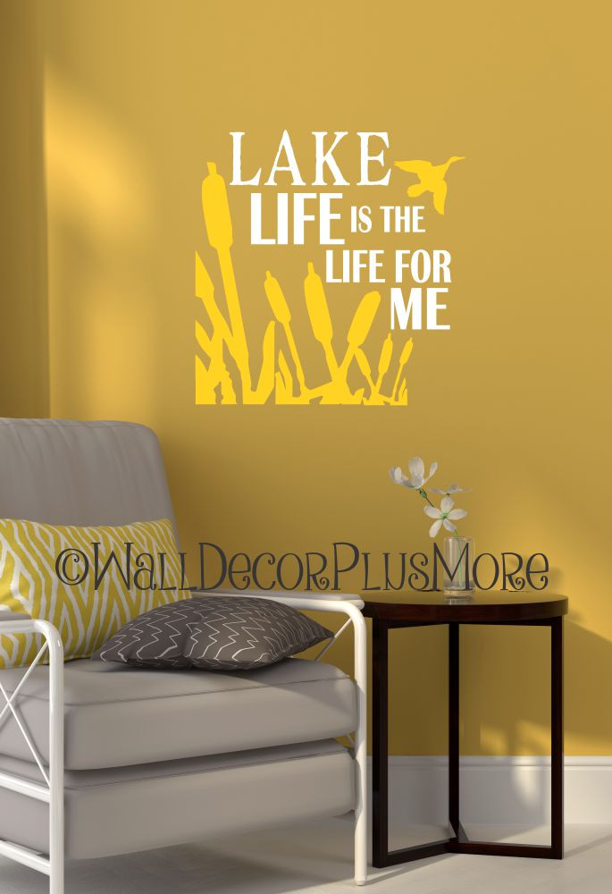 Funky Lake Wall Decor Illustration - Wall Art Design ...