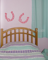 Horseshoe Western Wall Art Decals Vinyl Stickers Girls Room-Lipstick
