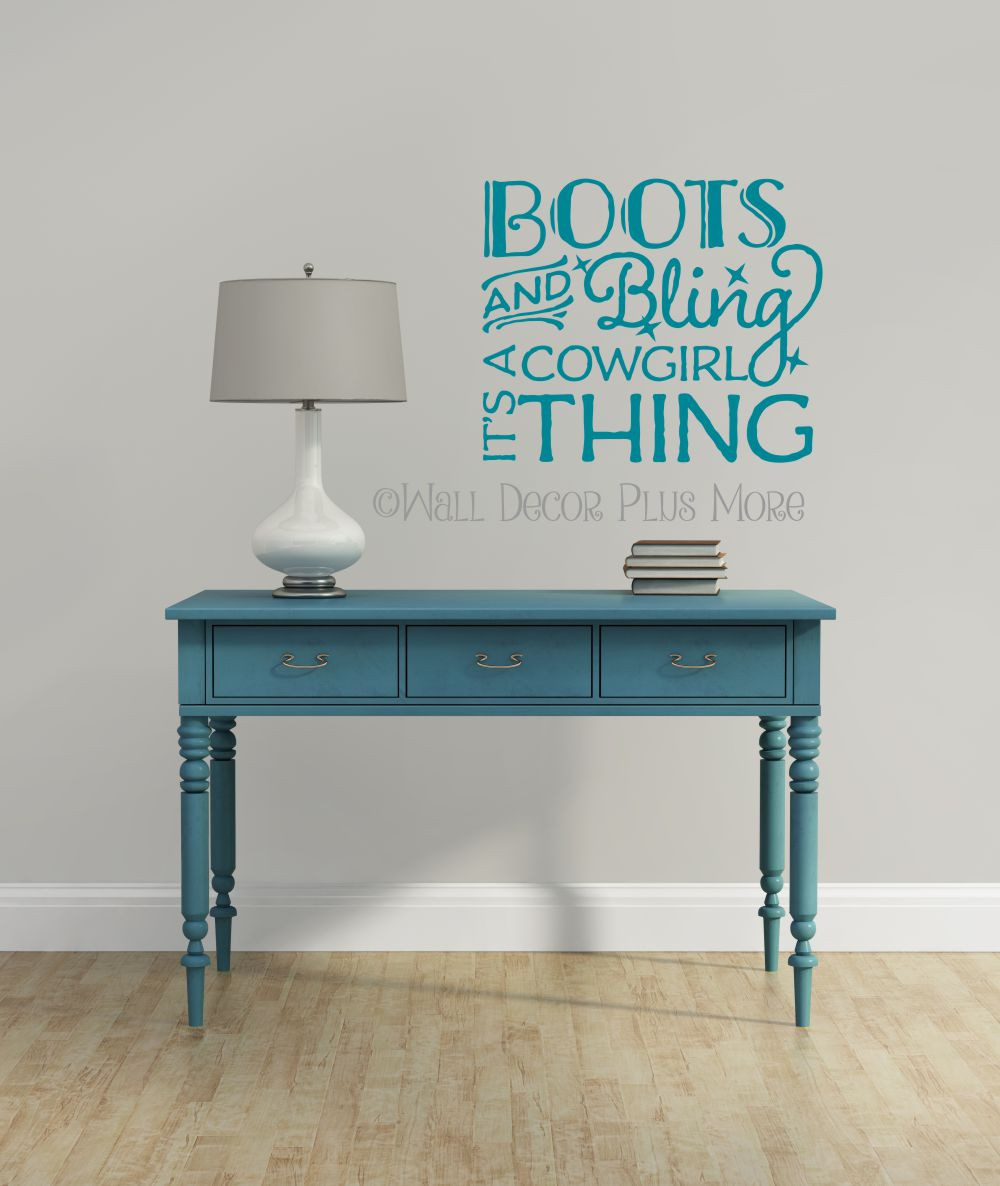 Boots and bling its a cowgirl thing western wall decal quotes for boots and bling its a cowgirl thing western wall decals loading zoom amipublicfo Images