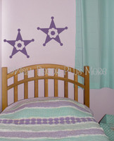 Girls Western Star  Wall Graphic Decals Vinyl Stickers