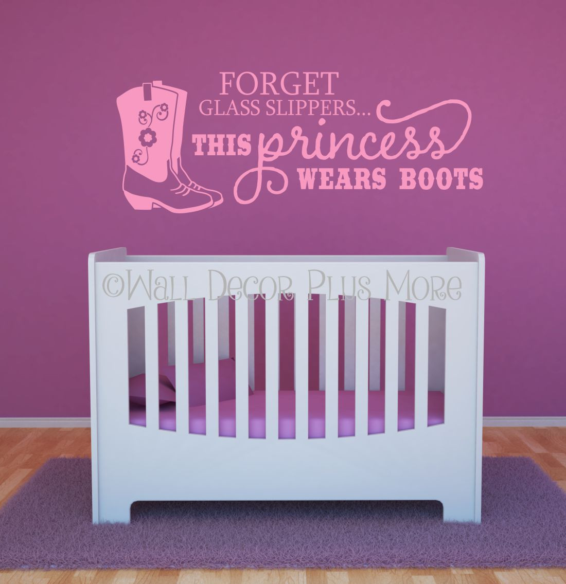 Forget The Glass Slipper Princess Western Wall Decals Soft Pink. Loading  Zoom