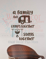 Camper Summer Wall Quotes Decals Family Camps