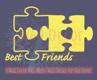 Best Friends Puzzle Pieces Vinyl Wall Art Decals Sticker