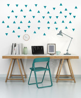 Tiny Triangles Wall Vinyl Sticker Shapes Peel-n-Stick Fun Easy Wall Decor