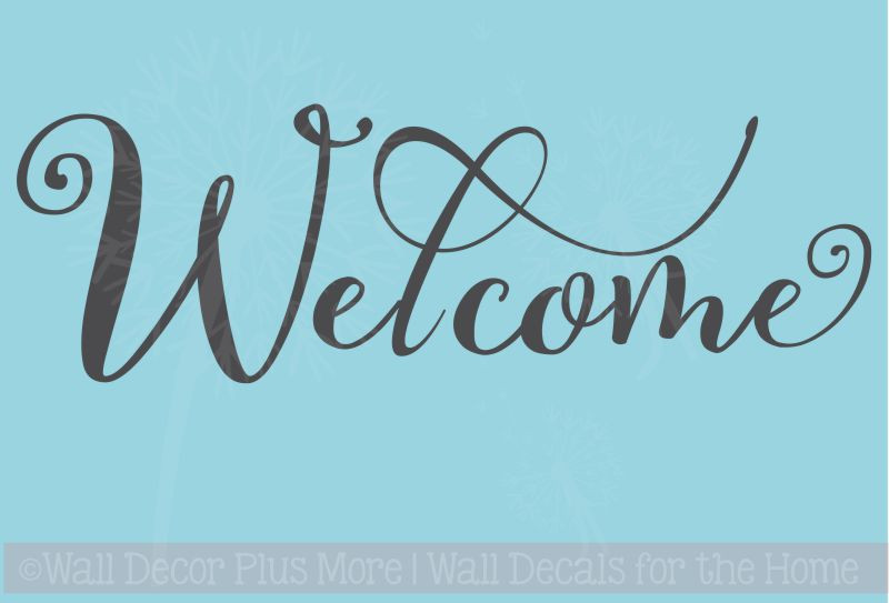 Welcome Cursive Wall Letters Words For Front Door Entry