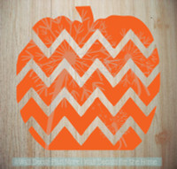 Chevron Pumpkin Wall Decals for Fall Decor Autumn Holiday Wall Stickers