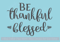 Be Thankful & Blessed Fall Autumn Wall Words Vinyl Stickers