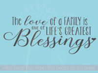 Love Of Family Blessing Family Wall Decals Vinyl Wall Letters for Home Decor