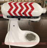Chevron Stripes Decals to Decorate Your Kitchenaid Mixer Appliance