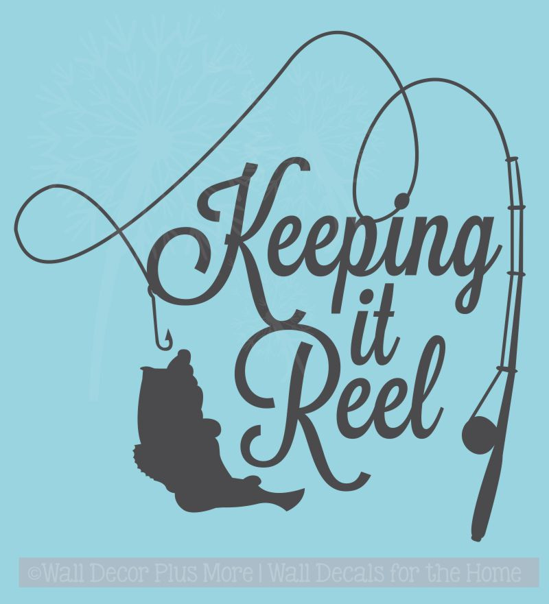 Keeping it Reel Fishing Pole and Fish on Line Wall Art ...