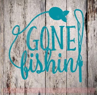 Gone Fishing Wall Art Vinyl Sticker Decals For Fisherman