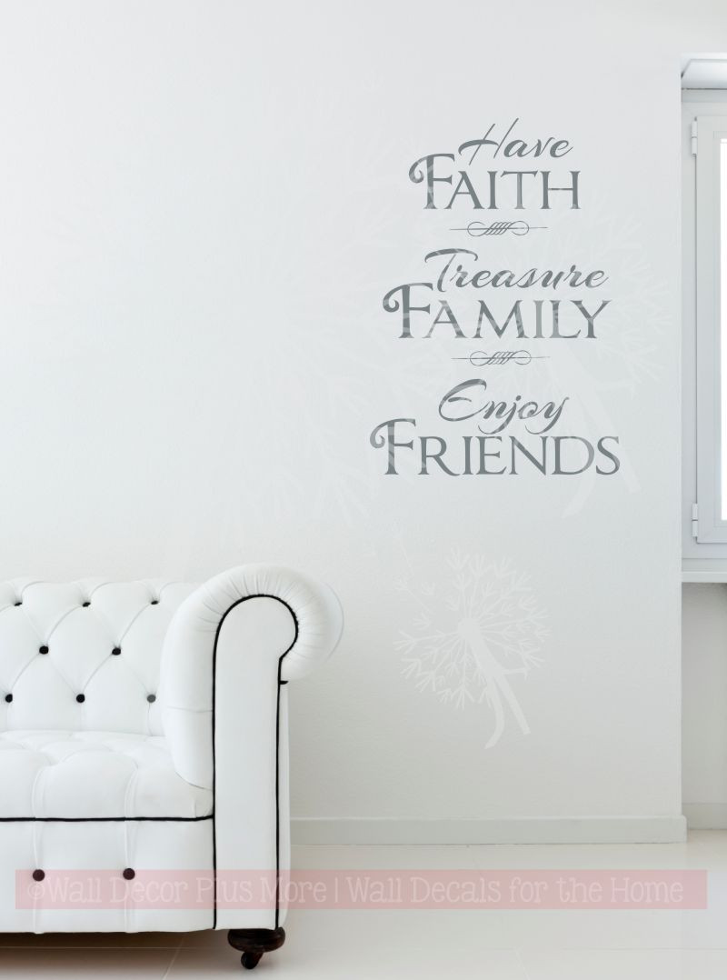 Have faith enjoy friends family and inspirational wall art decal have faith enjoy friends family and inspirational wall art decal vinyl lettering loading zoom amipublicfo Images