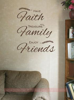 Family faith friends wall decor