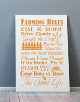 Farming Rules The Good Life Wall Lettering Vinyl Stickers Decal Quotes