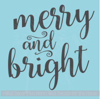 Merry & Bright Vinyl Wall Lettering Quotes Decals Holiday Wall Stickers