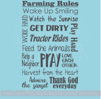 Farming Quotes Entrancing Farm Quotes Wall Decals And Stickers Collection